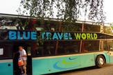 Blue travel blur