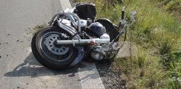 Tragiczny wypadek motocyklisty. Dlaczego zjechał z drogi?