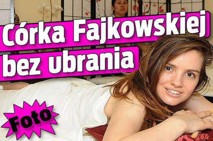 Córka Fajkowskiej bez ubrania. Foto
