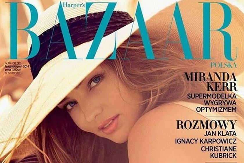 """Miranda Kerr na okładce polskiego """"Harper's Baazar"""""""