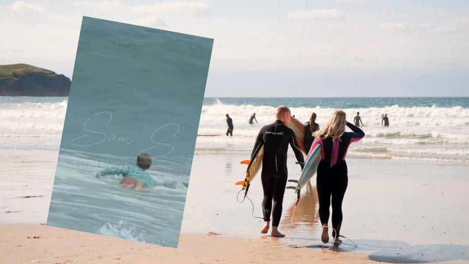 Nagrywał fale, gdy nagle zobaczył rekina zbliżającego się do nastolatka [WIDEO]