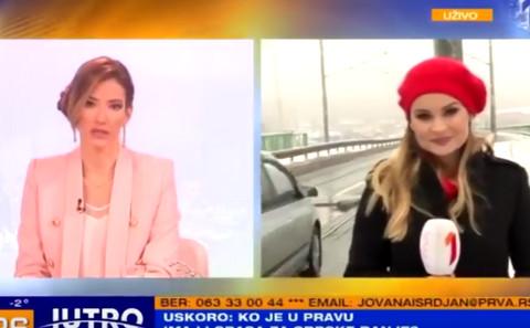 Jovana Joksimović nije bila zadovoljna onim što je rekla reporterka, pa je usledila nimalo prijatna reakcija! VIDEO