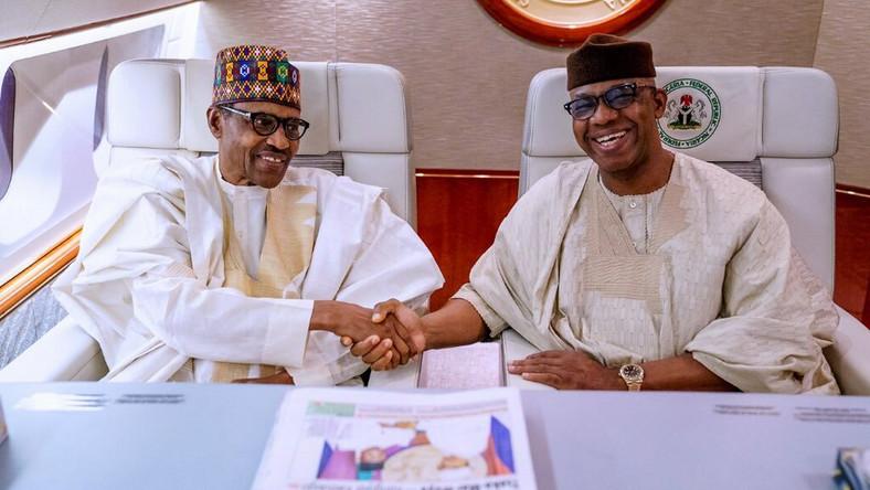 President Muhammadu Buhari and Ogun state governor, Dapo Abiodun [Twitter/@dabiodunMFR]