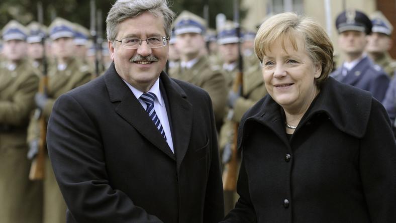 Bronisław Komorowski i Angela Merkel