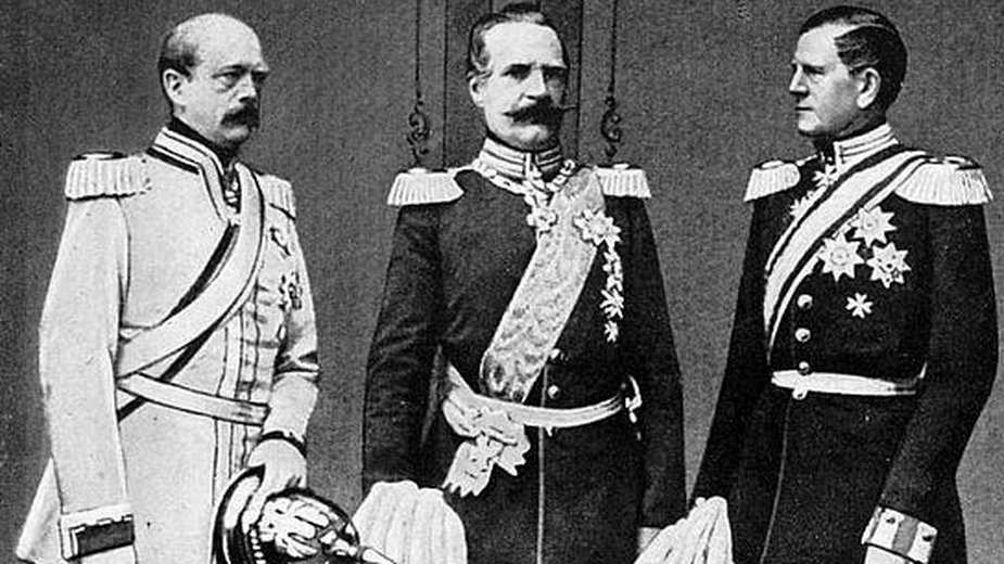 Na zdjęciu (od lewej): Bismarck, Roon, Moltke - domena publiczna