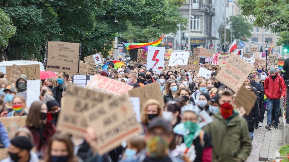 Protest na ulicach Warszawy