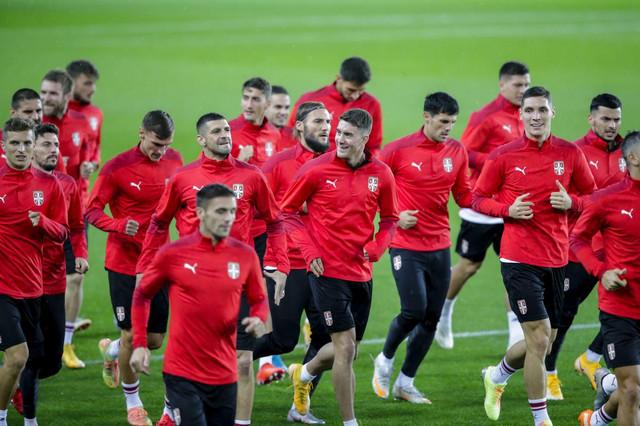 Fudbalska reprezentacija Srbije na treningu u Oslu
