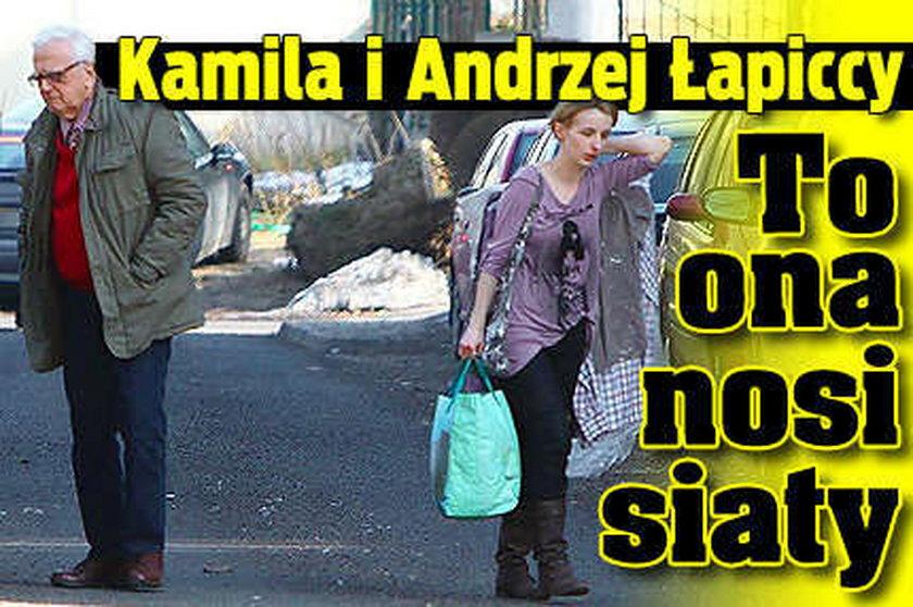 Kamila i Andrzej Łapiccy. To ona dźwiga siaty!