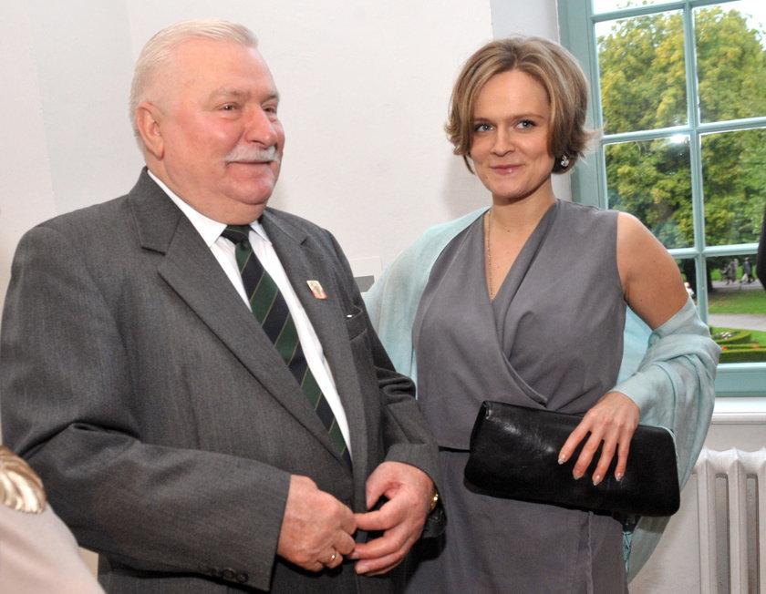 Lech Wałęsa z córką Marią Wiktorią