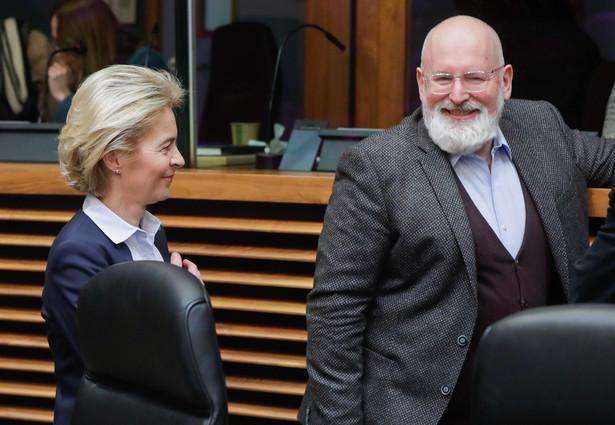 Szefowa KE Ursula von der Leyen i Frans Timmermans