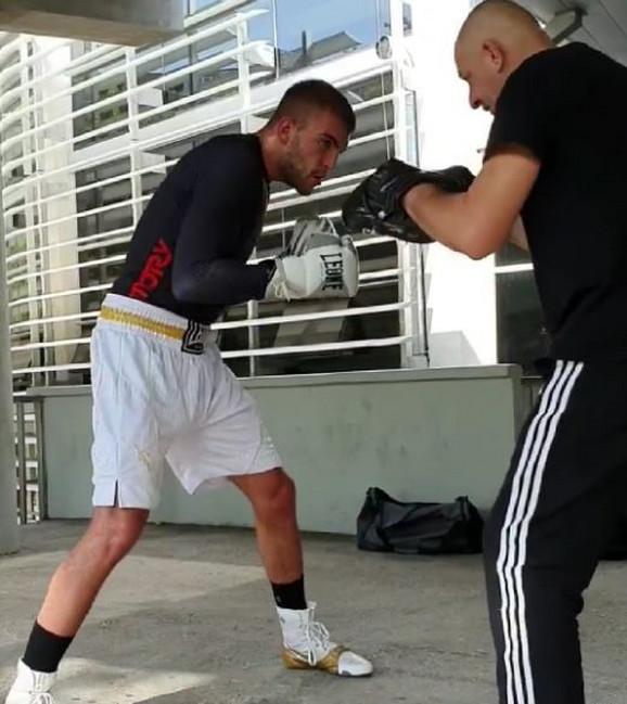 Veljko sa trenerom Jovanom Rakonjcem