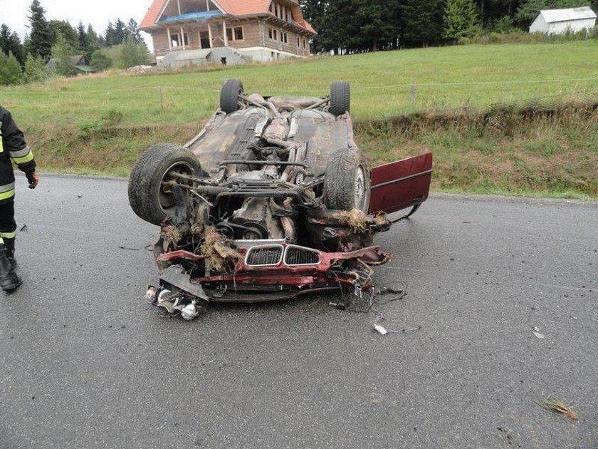 Samochód dachował na DK 75