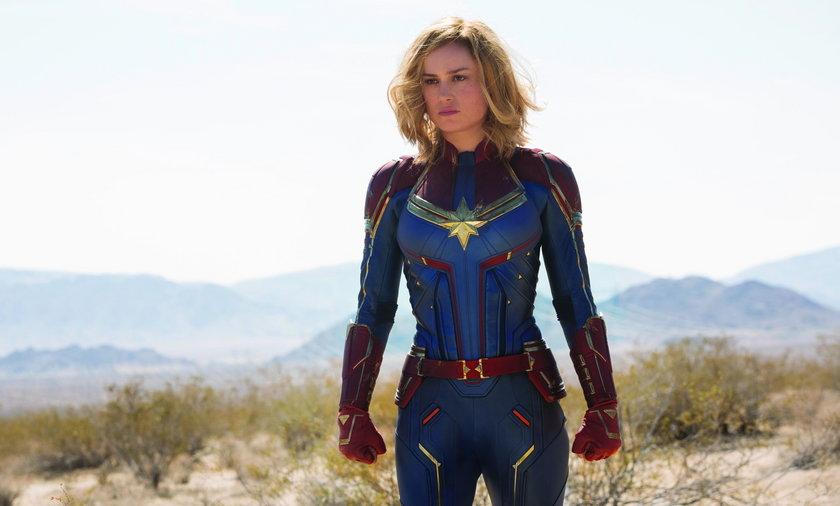 """Brie Larson w tytułowej roli w filmie """"Kapitan Marvel"""""""