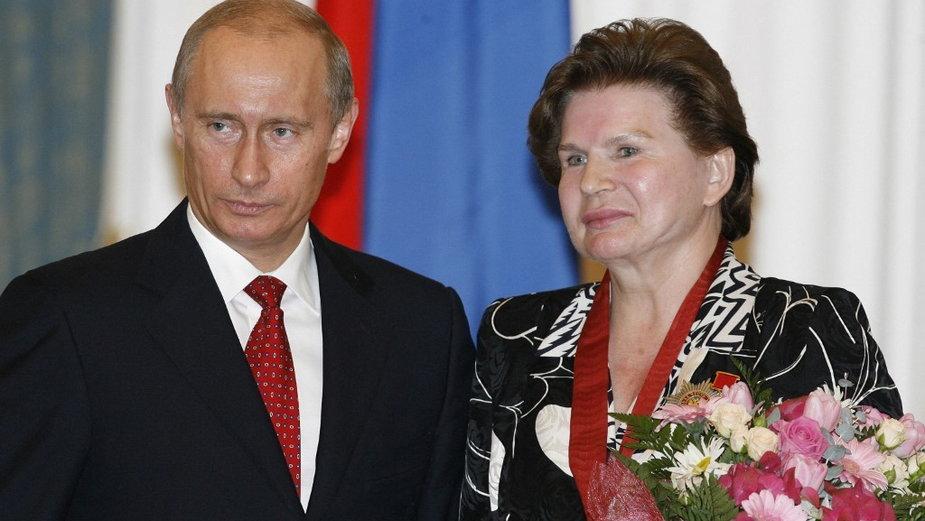 Władimir Putin i Walentina Tierieszkowa, 2007 r.