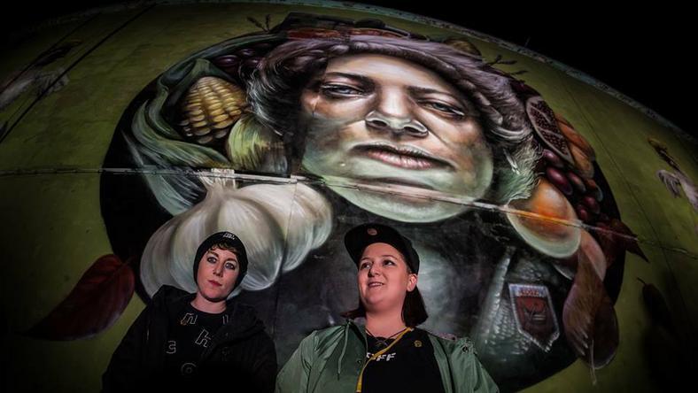 """Odsłonięcie muralu Nomad Clan """"Mokosz"""""""
