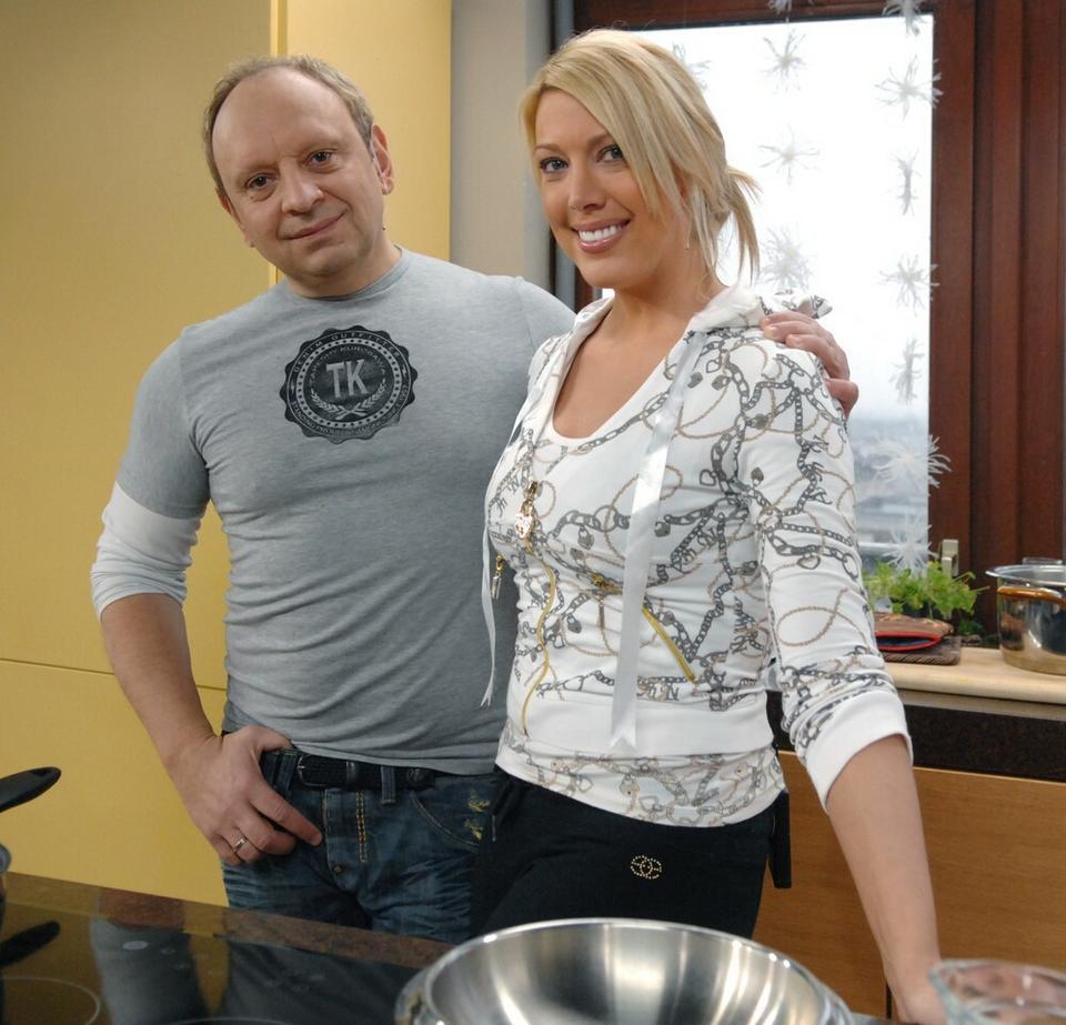 Isis Gee z mężem Adamem Gołębiowskim