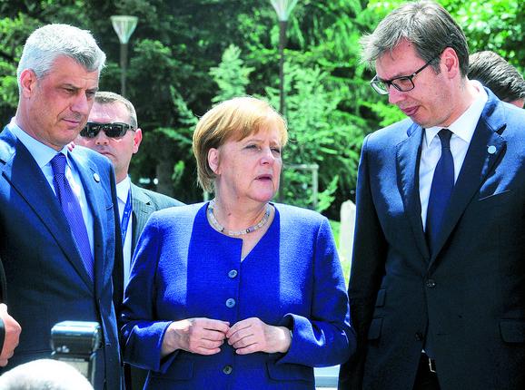 Vučić, Tači i Merkel