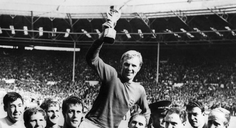 England celebrate victory against West Germany in the 1966 World Cup final Creator: -