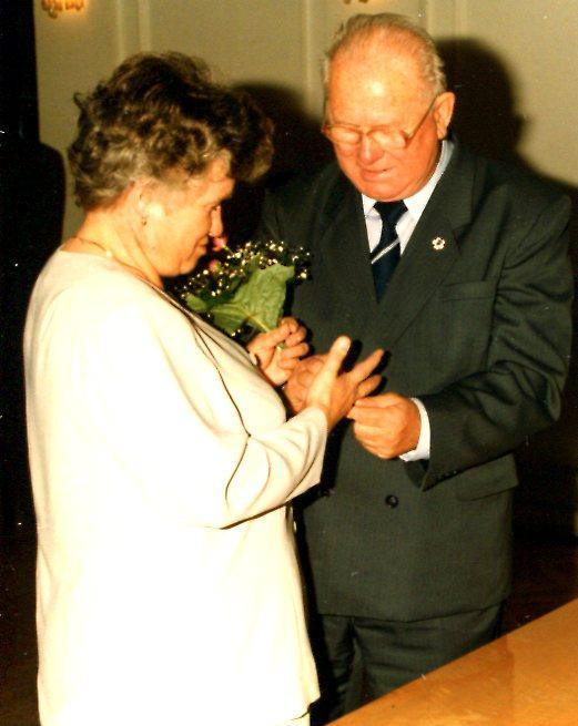 Leszek Snopkowski ze swoją drugą żoną Jadwigą