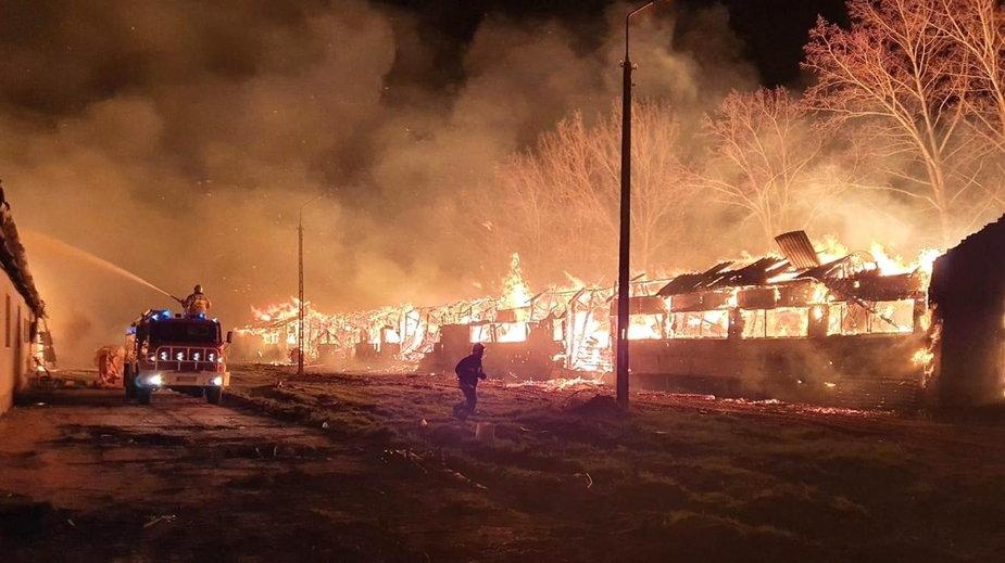 Strażacy z pożarem walczyli całą noc