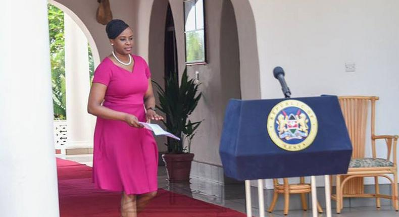 State House Spokesperson Kanze Dena during a past press briefing