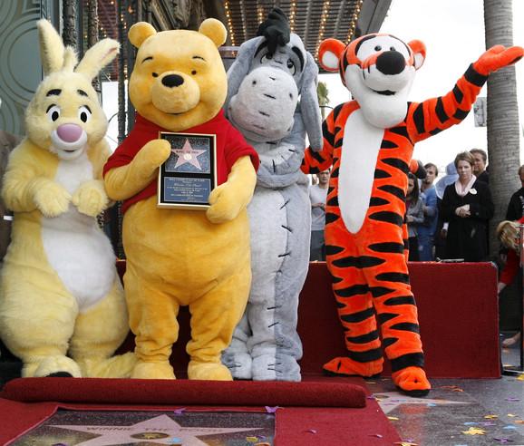 Vini Pu i družina dobili su mapu na Bulevaru slavnih u Holivudu 2006.