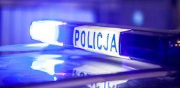 Pijany policjant blokował drogę