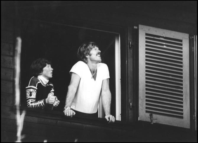 Robert Redford i njegov sin Džejms pre nekoliko decenija