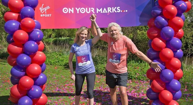 Branson and New Virgin Sport CEO, Mary Wittenberg