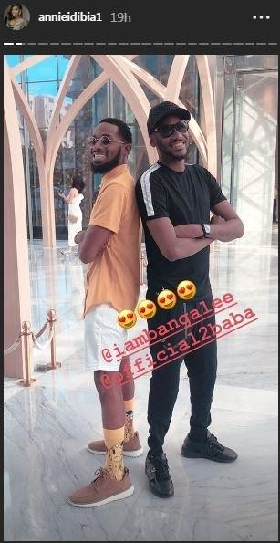 2Face Idibia flanked by D'banj