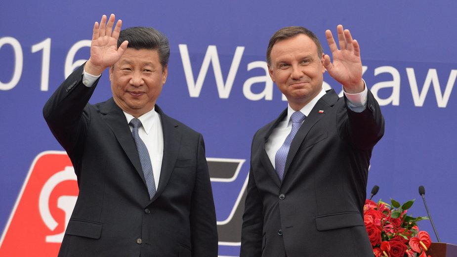 Xi Jinping i Andrzej Duda w 2016 r.