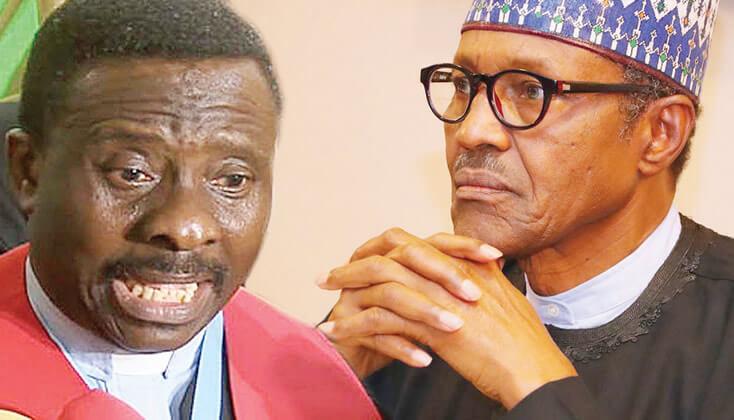CAN President Samson Ayokunle and President Muhammadu Buhari (Punch)