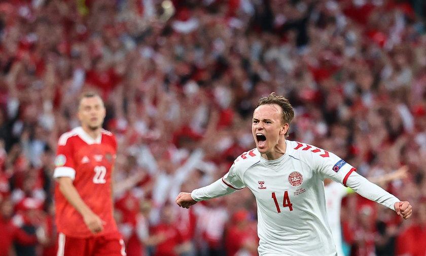Mikkael Damsgaard w meczu z Rosją strzelił efektownego gola