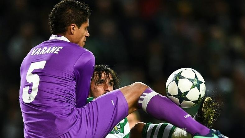 Raphael Varane has pulled out of Real Madrid's game against Sporting Gijon
