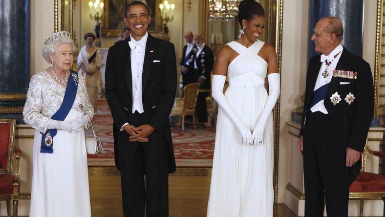 Obamowie u Elżbiety II