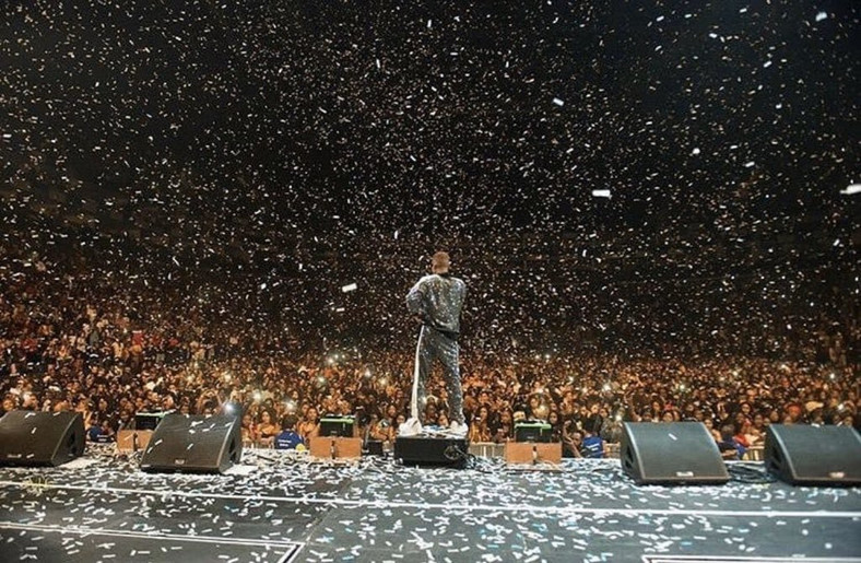 Wizkid, Naira Marley, Fireboy thrill the O2 Arena in London. (Twitter/MusicGuide)