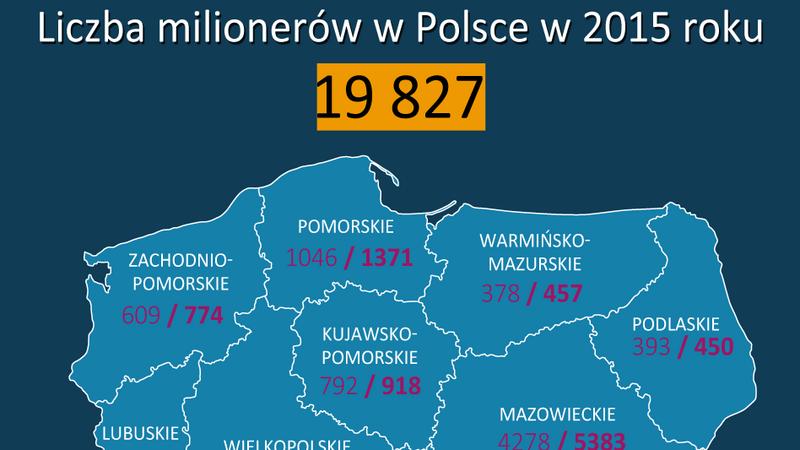 Liczba Milionerów Mapa