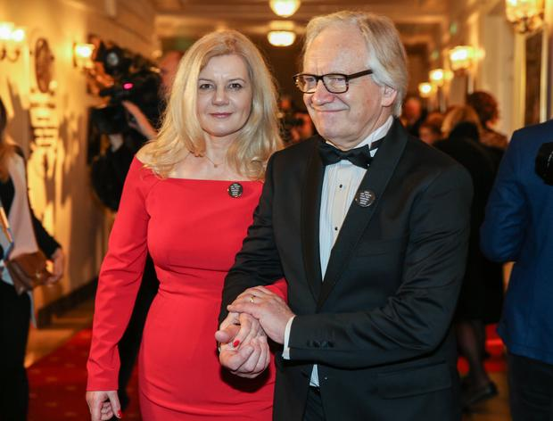 Aktor, reżyser Andrzej Seweryn z żoną Katarzyną Kubacką