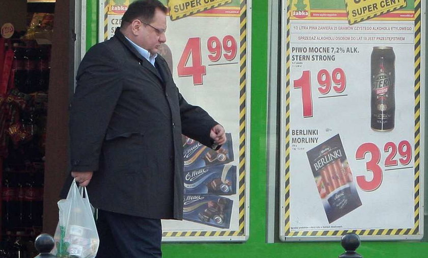 Poseł kupił flaki