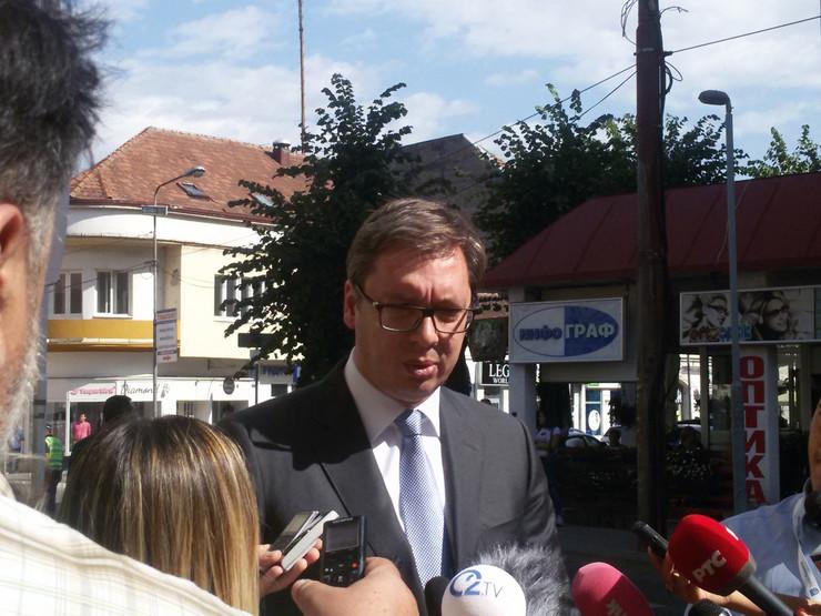 Loznica Aleksandar Vucic foto Slobodan Pajic