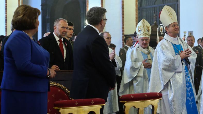 Kardynał Nycz, Anna Komorowska i Bronisław Komorowski