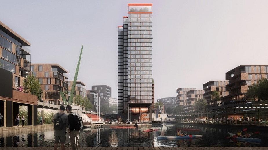 Nowy wieżowiec zbudowany zostanie na Popowicach. Będzie częścią powstającej nowoczesnej dzielnicy.