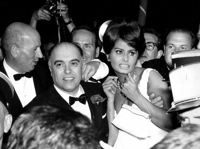 Sofija sa suprugom 1961. u Kanu
