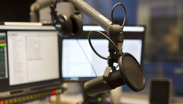 Studio of a radio station