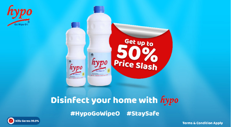 Hypo Bleach slashes price by 50% to support fight against COVID-19
