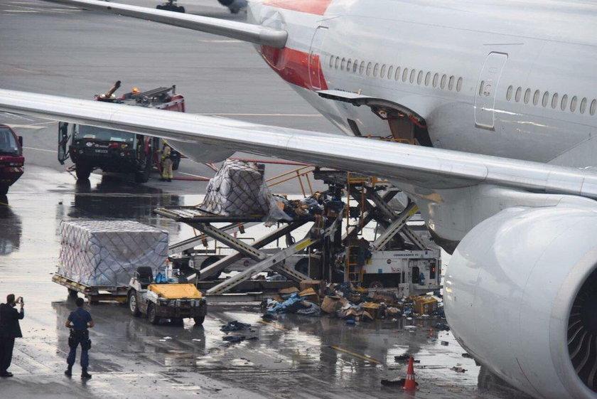 Podróżni przerażeni. Samolot płonął na ich oczach