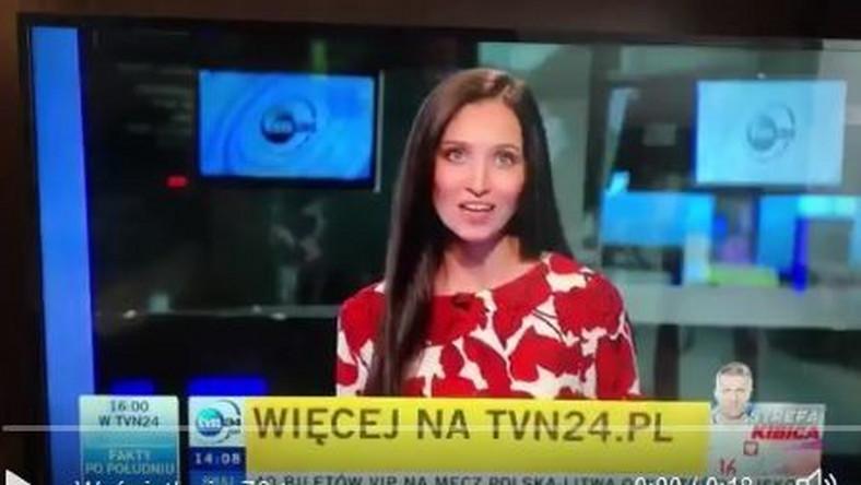 Wpadka dziennikarki TVN24