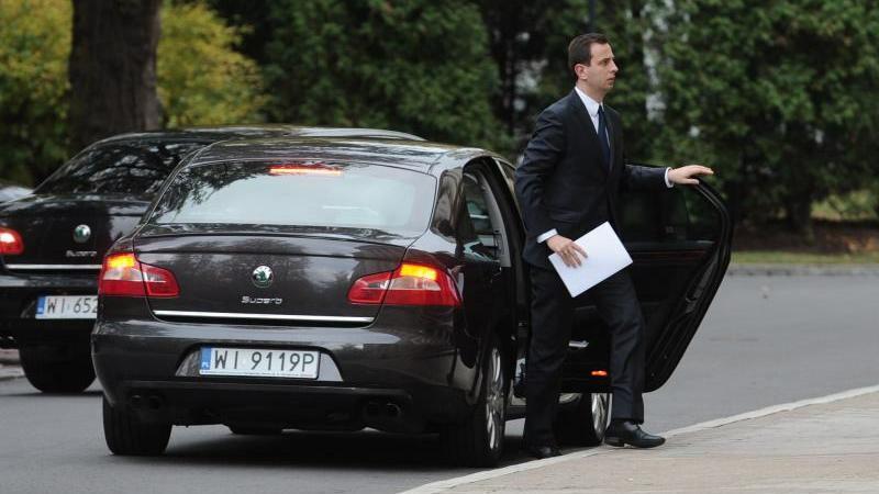 Rządowa limuzyna ministra pracy
