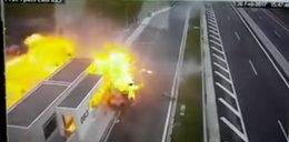 Wstrząsające nagranie z wypadku. Porsche eksplodowało