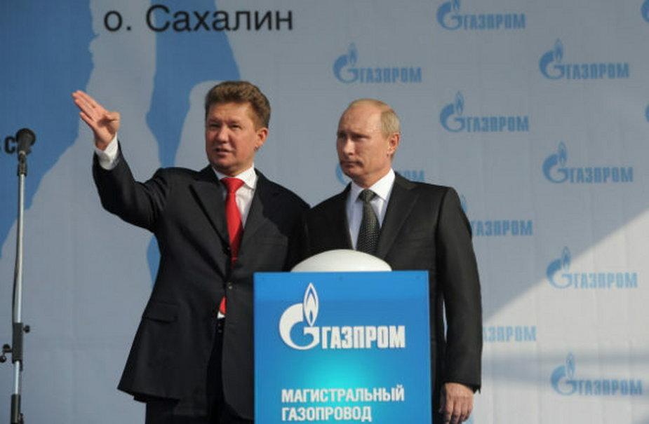 Aleksiej Miller i Władimir Putin. Fot. Gazprom